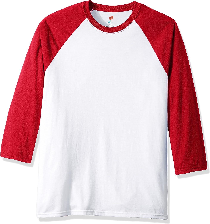 Hanes Mens X-Temp Raglan Baseball Tee Shirt
