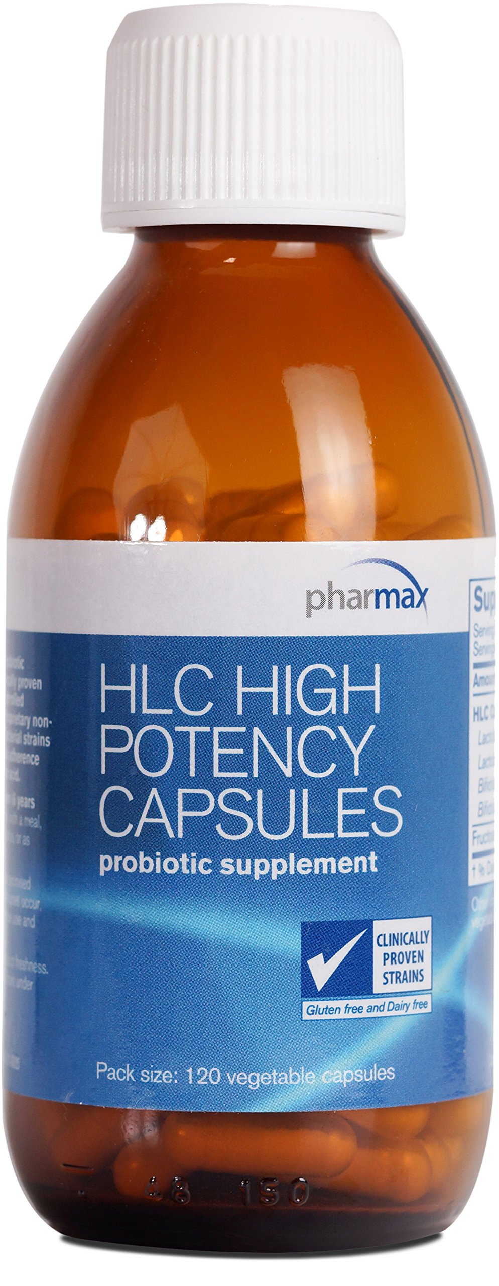 Pharmax - HLC High Potency Capsules - Probiotics to Promote Gastrointestinal Health in Adults and Children* - 120 Capsules