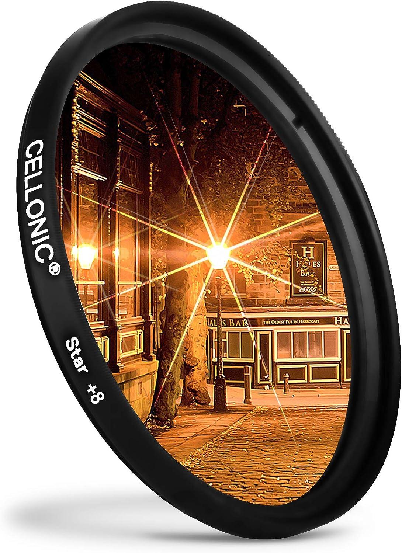 CELLONIC/® Filtro Estrella 8 PT Compatible con Sigma /Ø 72mm Star Filter 8 Point Cross Filter