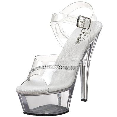 736cadf9534 Pleaser Women s Kiss-208R Platform Sandal