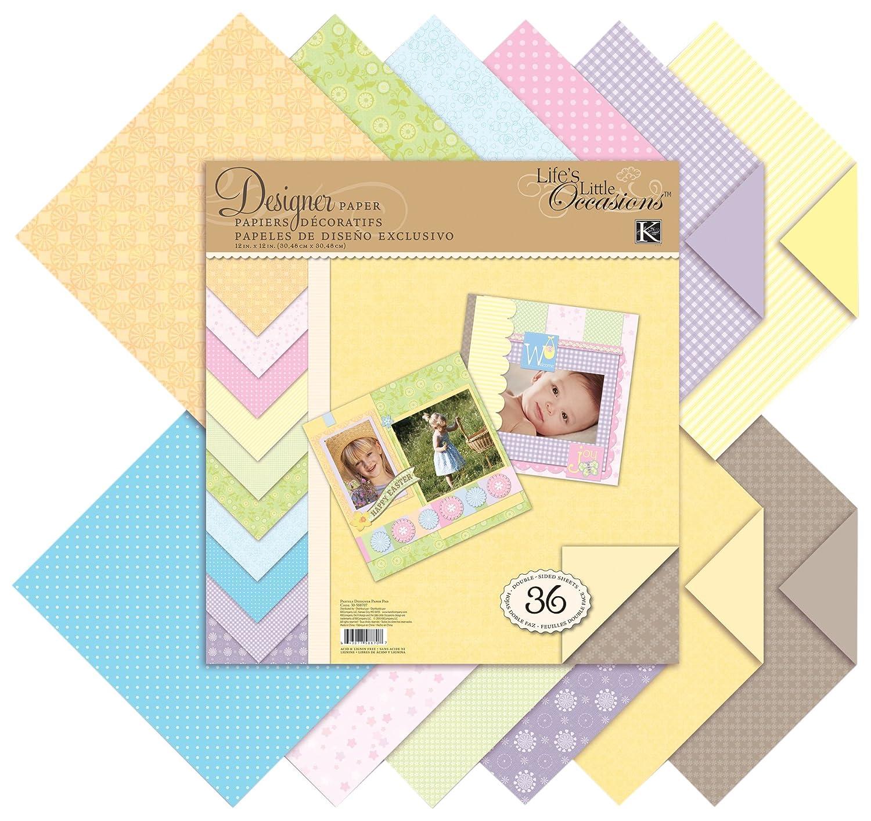 K & Company 30-588707 Pastels Designer Paper Pad EKS