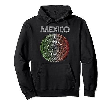 Unisex Mexico Aztec Hoodie Retro Soccer 2018 Futbol Russia Tri Goal 2XL Black