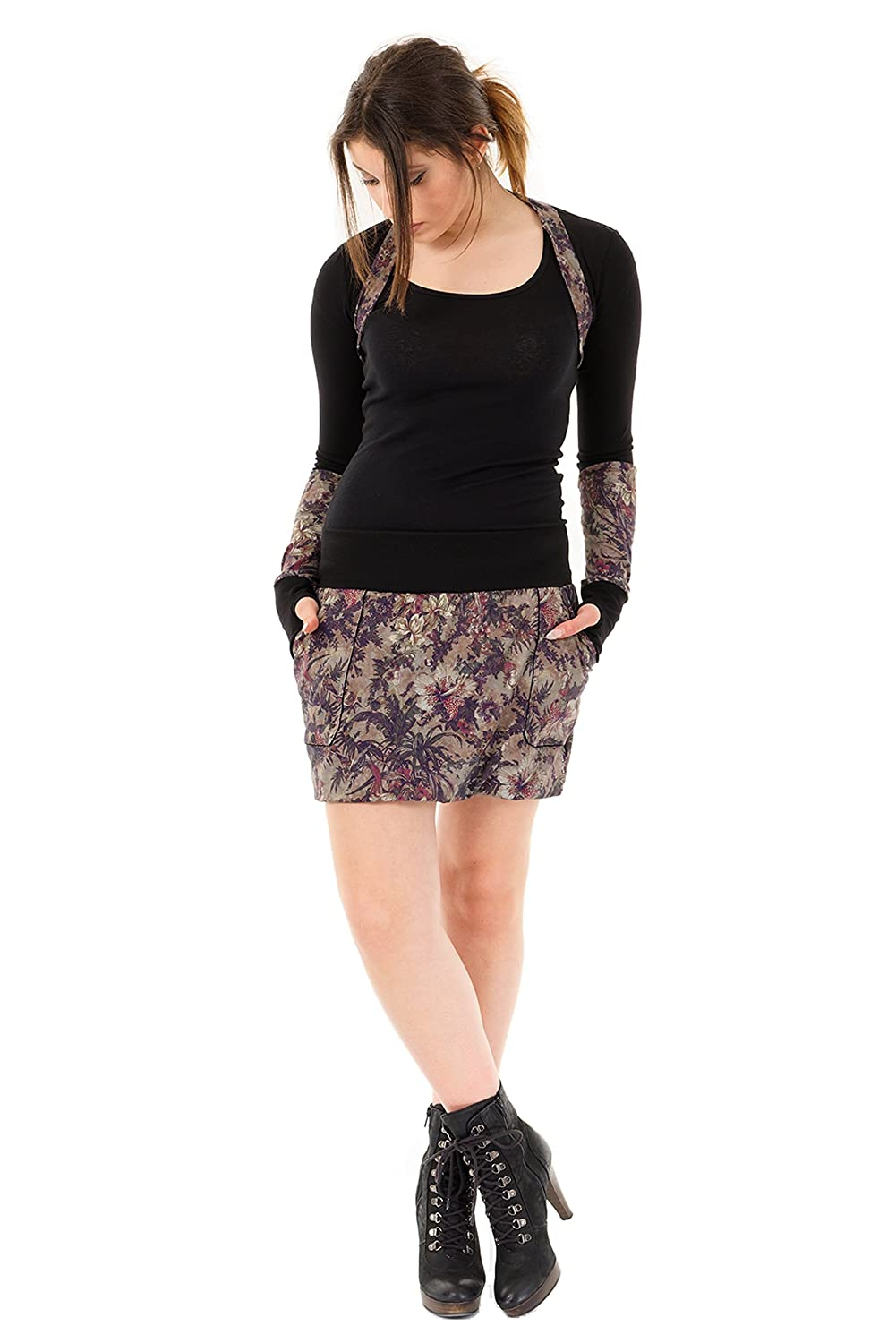 summer skirt short mini balloon wiht pookets by 3Elfen woman casually comfortable,Woman