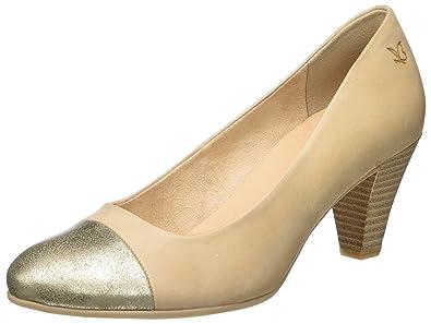 22409, Zapatos de Tacón para Mujer, Beige, 38.5 EU Caprice