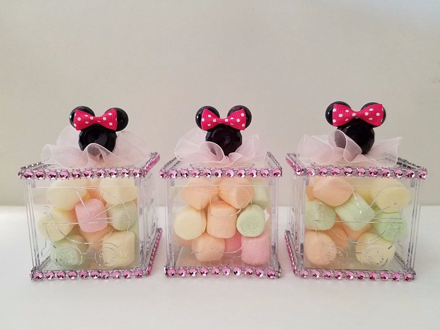 12 Minnie Mouse Fillable Blocks Baby Shower Favors Prizes Game Girl Decorations Product789