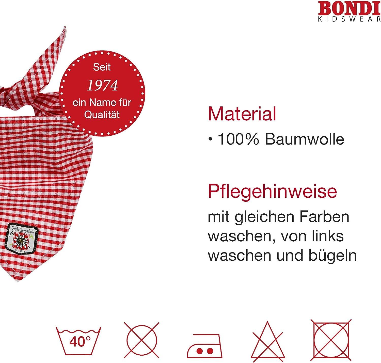 Dreieckstuch Rot Wei/ß Kariert BONDI Trachten Kinder Baby Halstuch mit Edelwei/ß