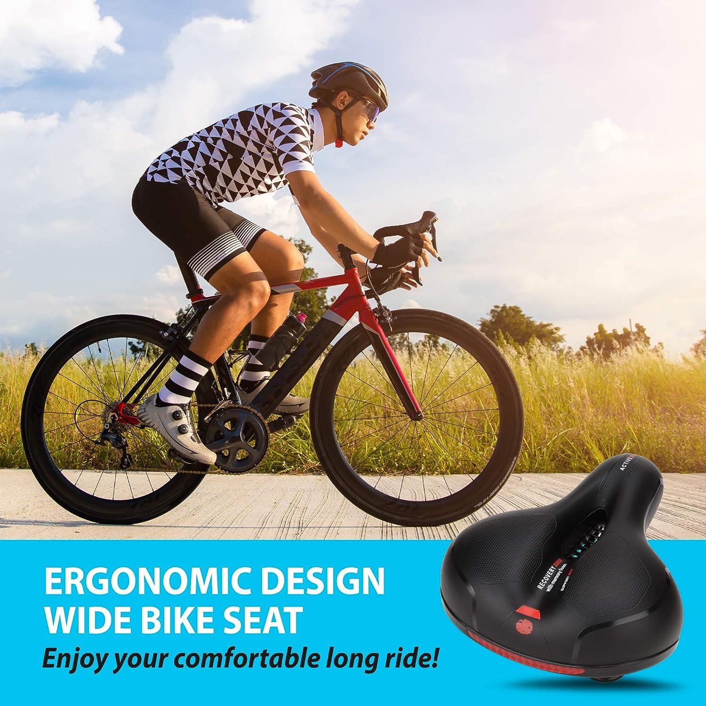 linplshas Bike Saddle Noseless Bike Seat Replacement Widened Oversized Comfort Bicycle Seat Cycling Cushion