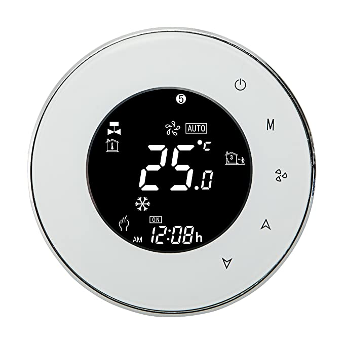 Beca 6000 Series Round Thermostat Two/Four Pipe for Air Conditioning Fan Coil with WIFI Connection (Two Pipe, White) - - Amazon.com