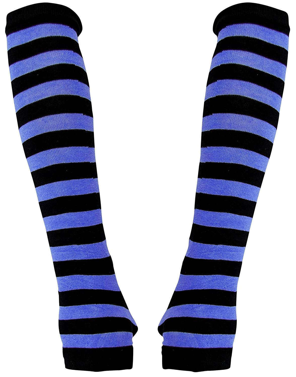 Arm warmers with black blue Stripes