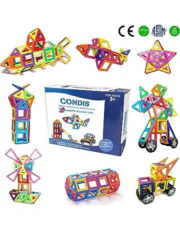 7dfc85bec87c Condis Bloques de Construcción Magnéticos para niños, Juegos de Viaje  Construcciones Magneticas imanes Regalos cumpleaños