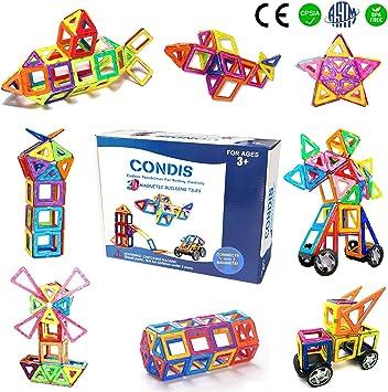 Condis Bloques de Construcción Magnéticos para niños, Juegos de ...