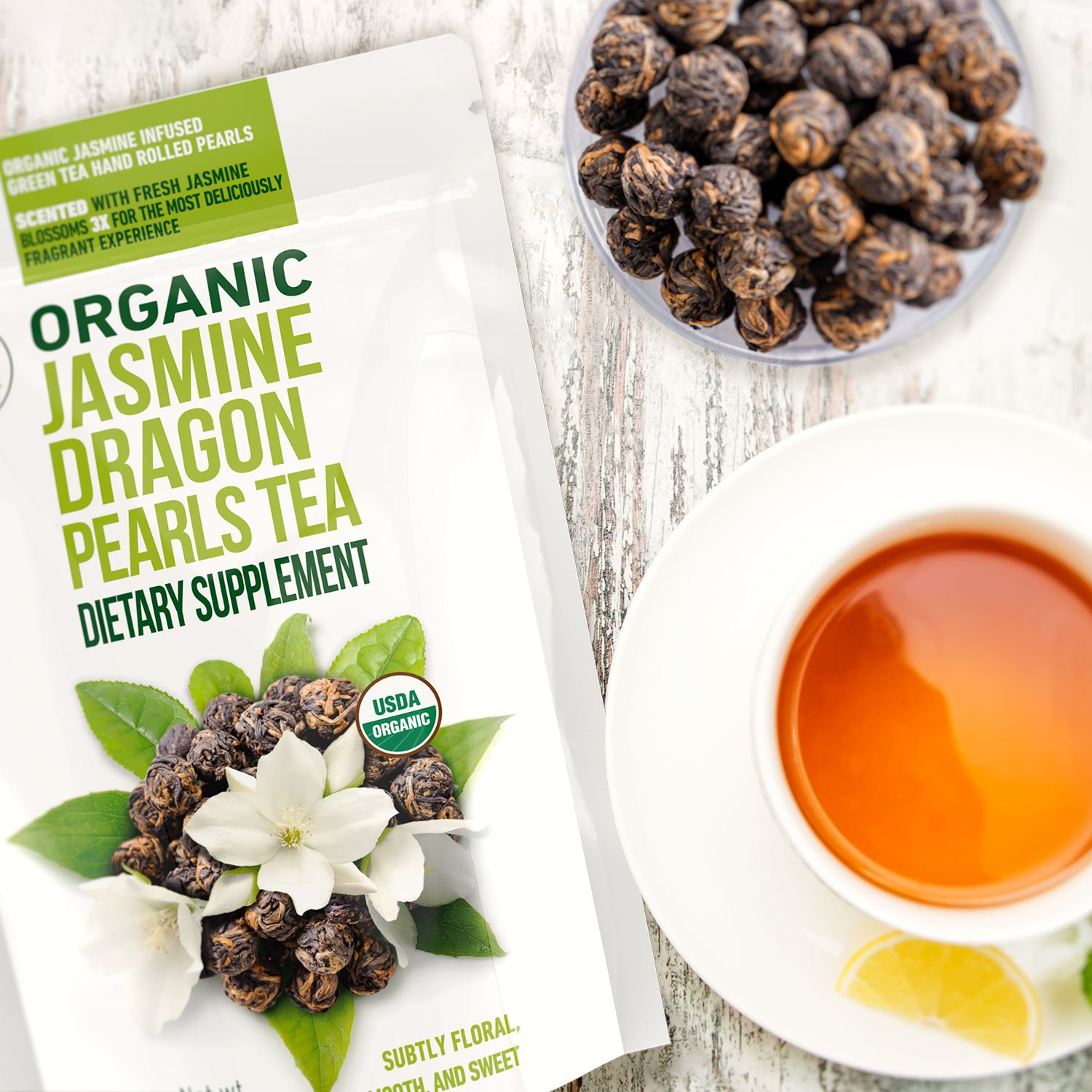 Kiss Me Organics LLC Introduces New, Exclusive Jasmine Dragon Pearls Tea