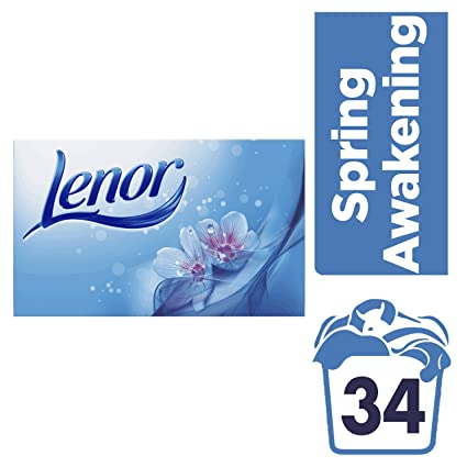 Toallitas suavizantes para la secadora Lenor Spring Awakening, 12 cajas de 34 unidades
