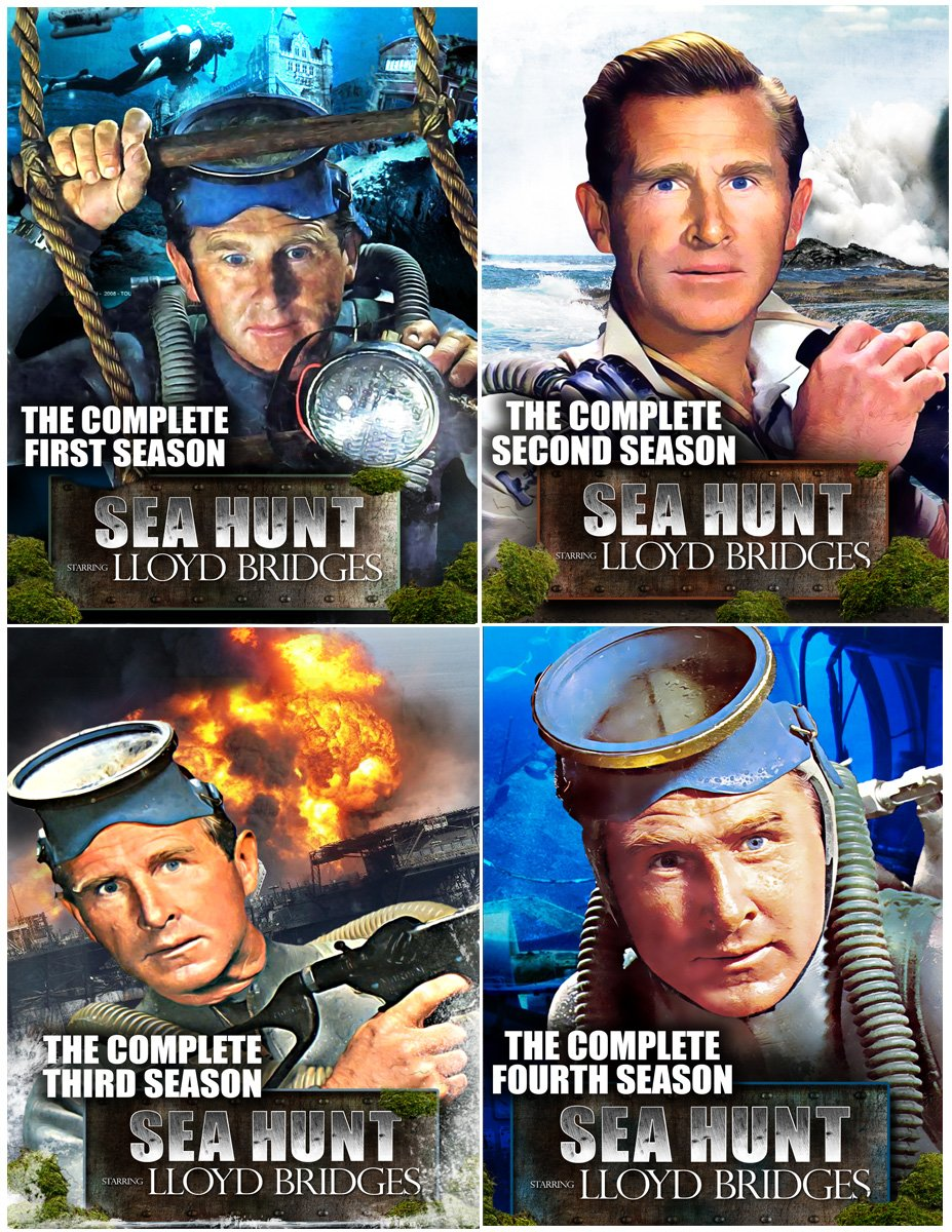 Sea Hunt: The Complete Series Collector's Edition (Seasons 1, 2, 3 & 4) - 20 DVD Set by TGG Direct