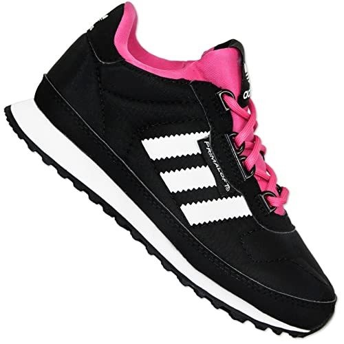 bbdfccf06 adidas Boys  Trainers Black Pink  Amazon.co.uk  Shoes   Bags