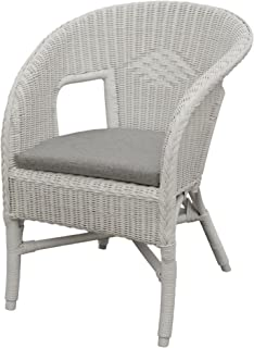 korb.outlet Bella Rattan Chair in White with Cushion u2013 Stacking Armchair Made ofu2026  sc 1 st  Amazon UK & Ikea AGEN - Chair rattan bamboo: Amazon.co.uk: Kitchen u0026 Home