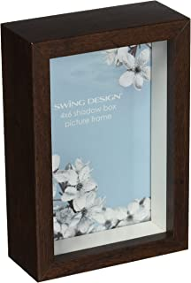 swing design chroma shadow box frame 4 by 6 inch walnut