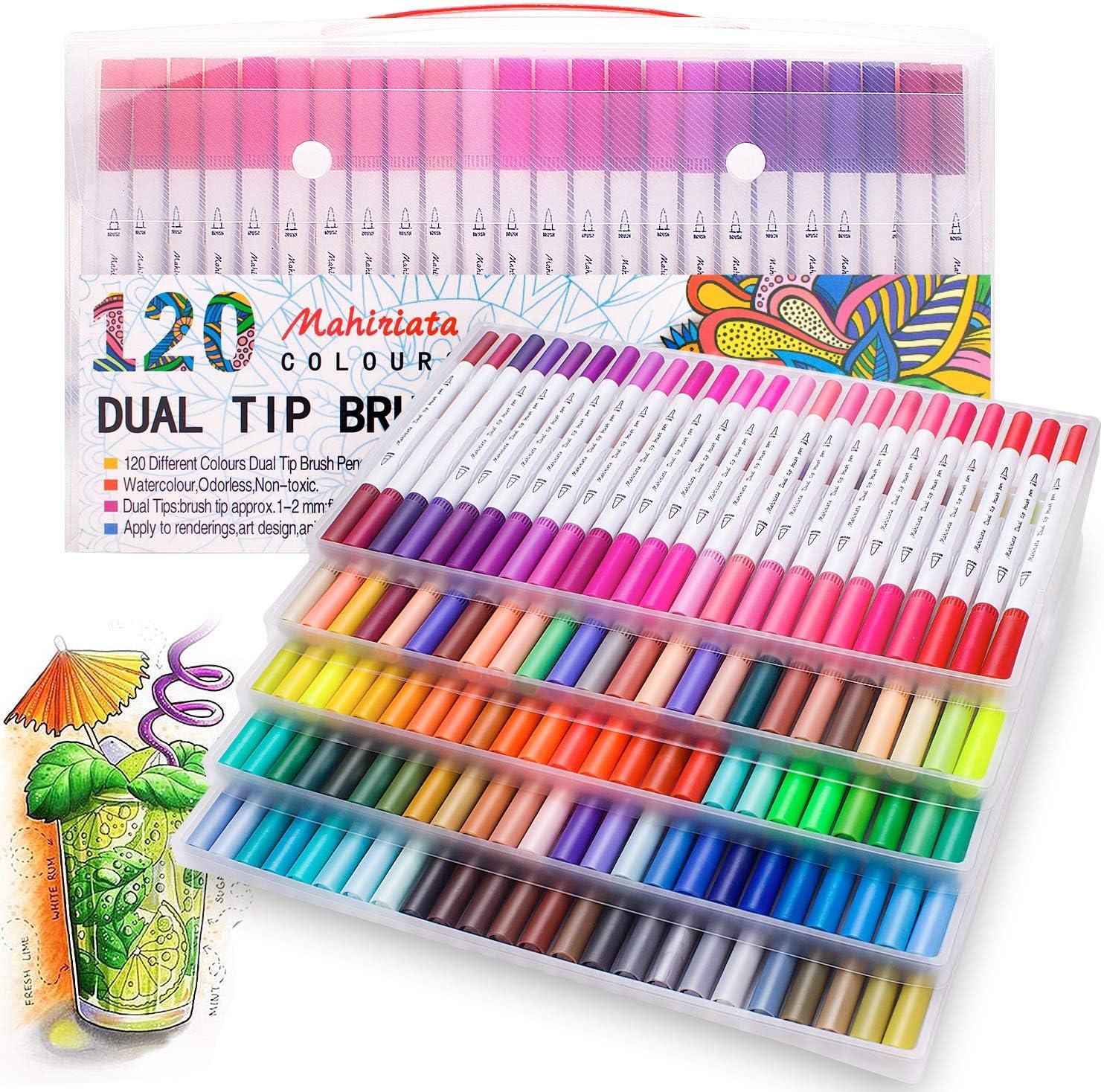 Lots 10 Colour Brush Pen Marker Pen Watercolour Drawing Painting Sketch Artist