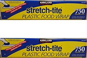 Kirkland Signature Stretch Tite Plastic Food Wrap 11 7/8 Inch X 750 SQ. FT. Pack 2