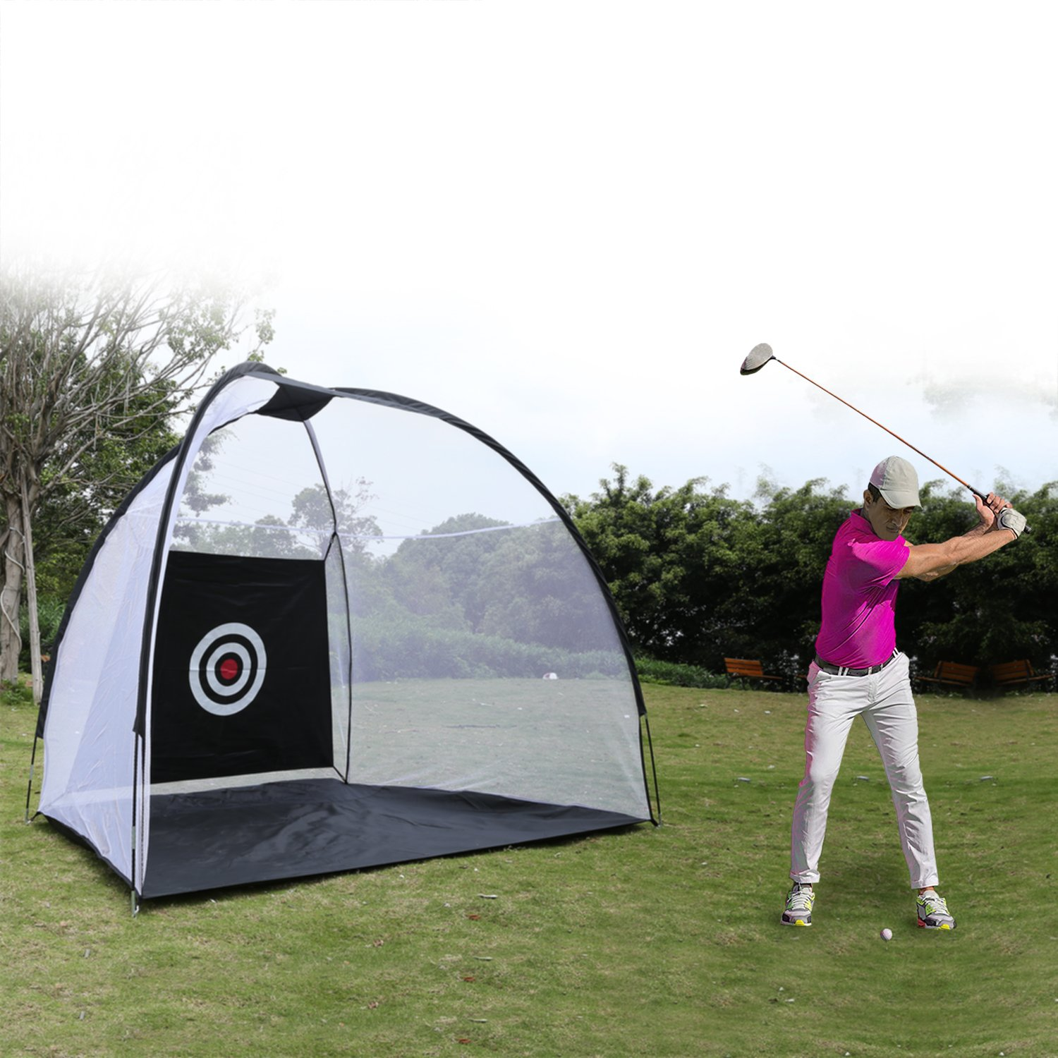 Etuoji Portable Golf Net Ball Hitting with Chipping Target and Carry Bag Large Size by Etuoji (Image #1)