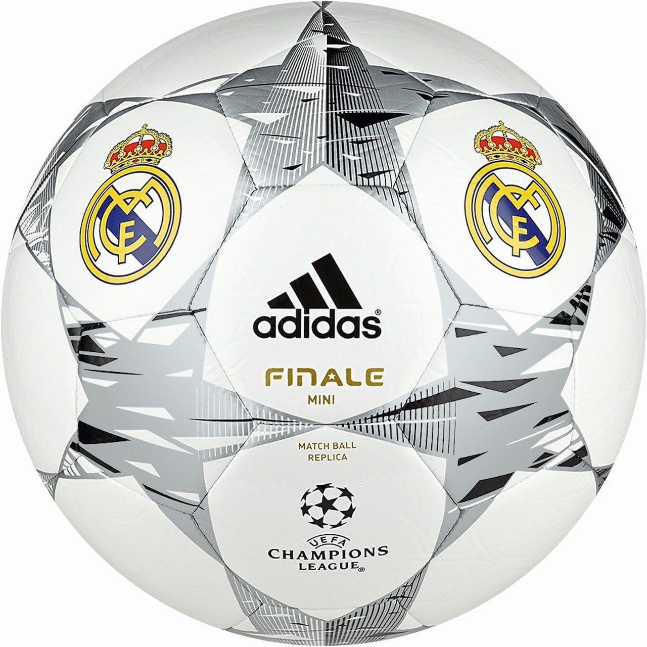 adidas Fútbol Real Madrid UCL Finale 14 Mini, White/Metallic ...