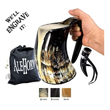 AleHorn Handcrafted Beer Glass