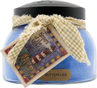product image for A Cheerful Giver Butterflies 22 oz Mama Jar Candle, Blue