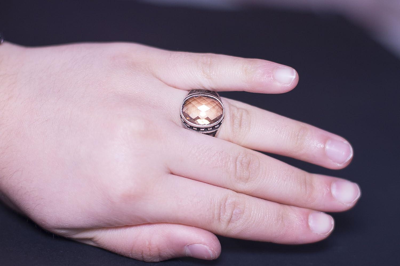 Falcon Jewelry Sterling silver men ring handmade, citrine stone ...