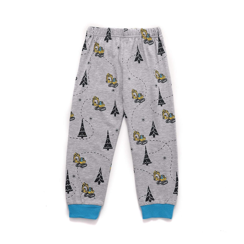 EULLA Toddler Boys Cotton Pjs Cute Dinosaur Shark Pajama Set Cartoon Sleepwear