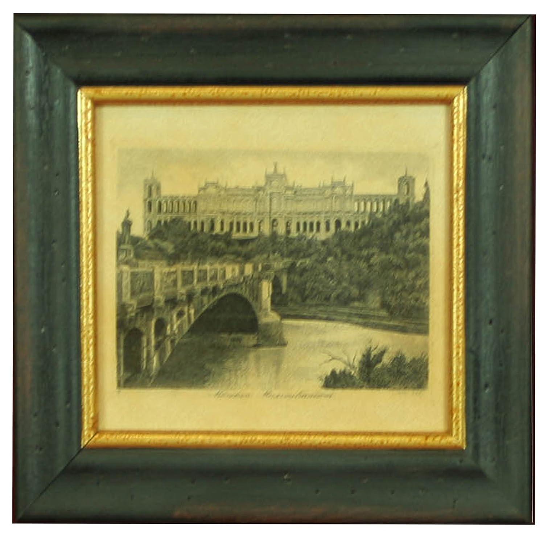 Amazon.com: Antique Architectural Framed Art, Exquisite Vintage Art ...