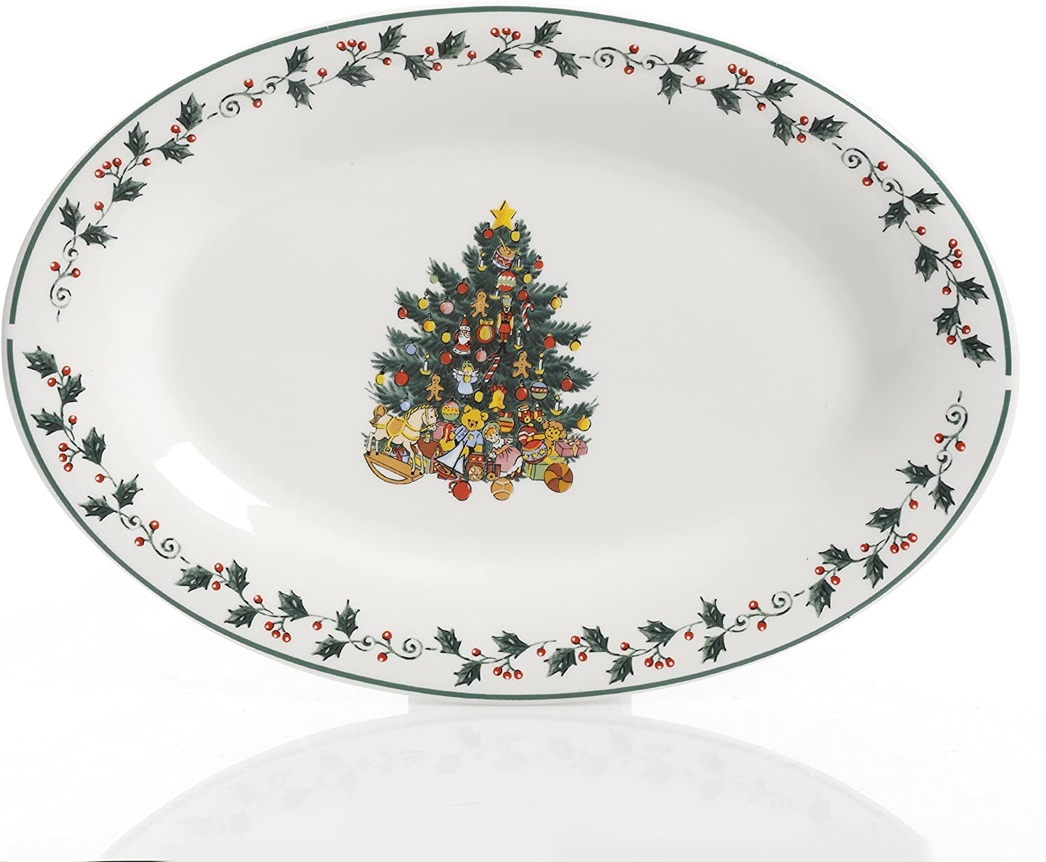 NEW Gibson Home 99826.07R Christmas Tree Trimming Holiday 7 PC Serving Set