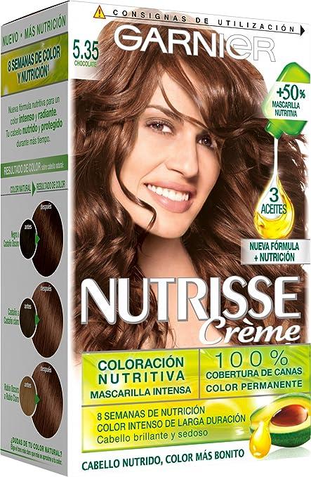Garnier Nutrisse Coloración Creme, tono 5.35 Chocolate, 160 ...