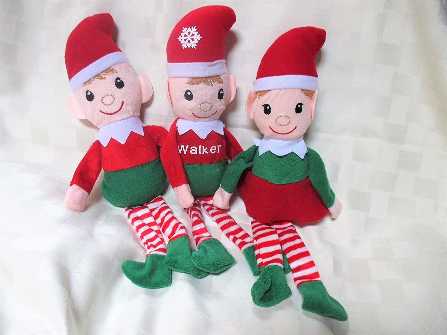 Personalized elf with Elf cam ornament