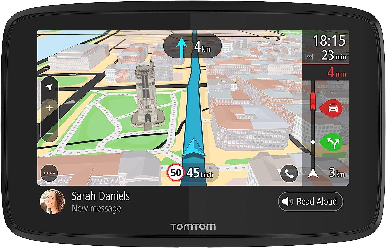 TomTom GO 620, GPS para coche, 6 pulgadas, llamadas manos libres, Siri y Google Now, actualizaciones via Wi-Fi, traffic para toda la vida mediante smartphone y mapas del mundo, mensajes de smartphone