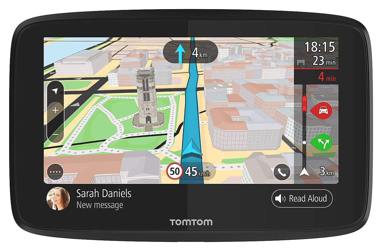 Schermo Capacitivo Messaggi dello Smartphone Navigatore TomTom GO 6200 GPS 6 Pollici Traffic a Vita da Scheda SIM e Mappe del Mondo Chiamata in Vivavoce Siri /& Google Now Aggiornamenti da Wi-Fi