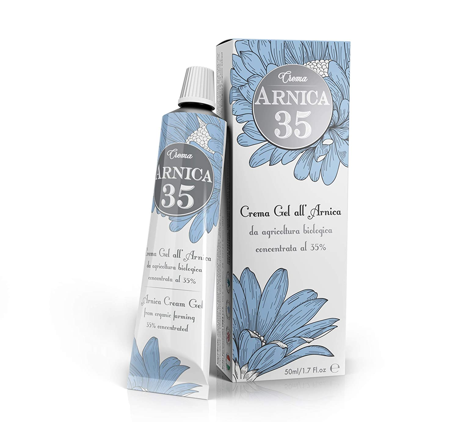 Dulàc - Arnica Gel Cream with a 35% concentration - 1.7 Fl.oz - THE MOST CONCENTRATED - 100% Made in Italy - Arnica 35