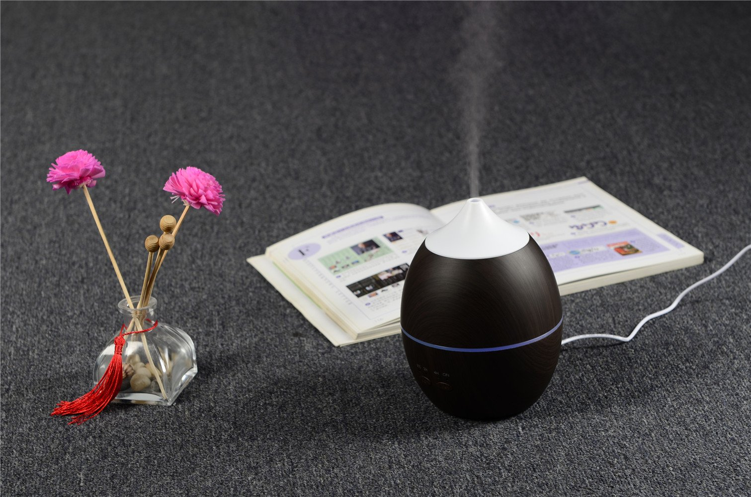 Deerbird 300ML Natural Deep Wood Grain Essential Oil Diffuser Ultrasonic Aromatherapy Diffusers with 7 LED Colorful Lights and Waterless Auto Shut-off by DeerBird (Image #8)