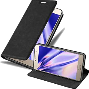 Cadorabo Book Case Works with Lenovo P2 in Night Black - with Magnetic Closure, Stand Function and Card Slot - Wallet Etui Cover Pouch PU Leather Flip