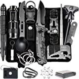 Naubr Camping Gear 15 in 1 Survival Gear kit,Tactical Survival Tool for Cars, Camping, Hiking, Hunting, Adventure…
