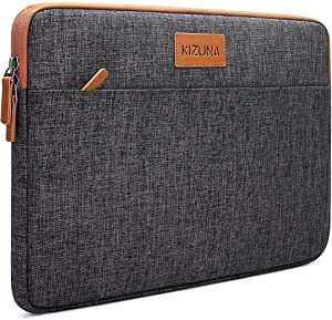 """KIZUNA 10 Inch Laptop Sleeve Case Water Resistant Tablet Pouch Computer Bag for 9.7"""" 10.5"""" 11"""" iPad Pro/Apple 10.2"""" iPad/10 Microsoft Surface Go/10.5"""" Samsung Tab S6/Huawei MediaPad/Lenovo,Brown"""