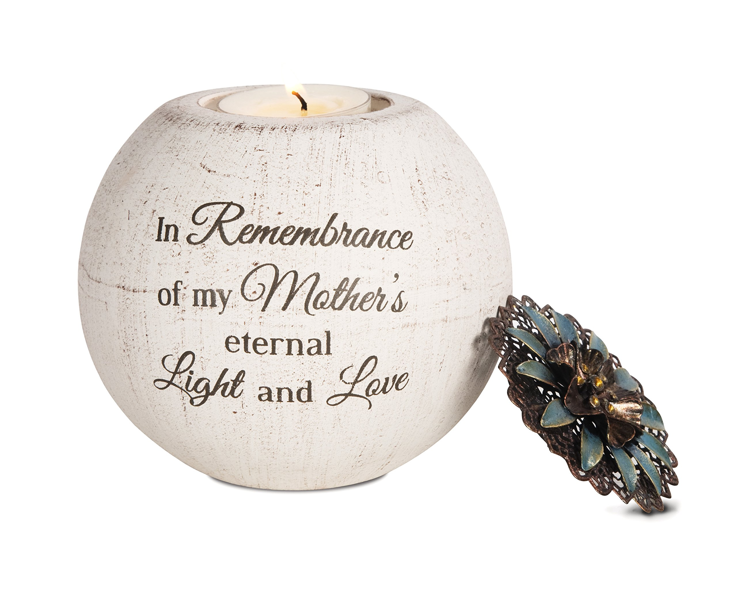 Pavilion Gift Company 19091 Mother's Love Terra Cotta Candle Holder, 4-Inch