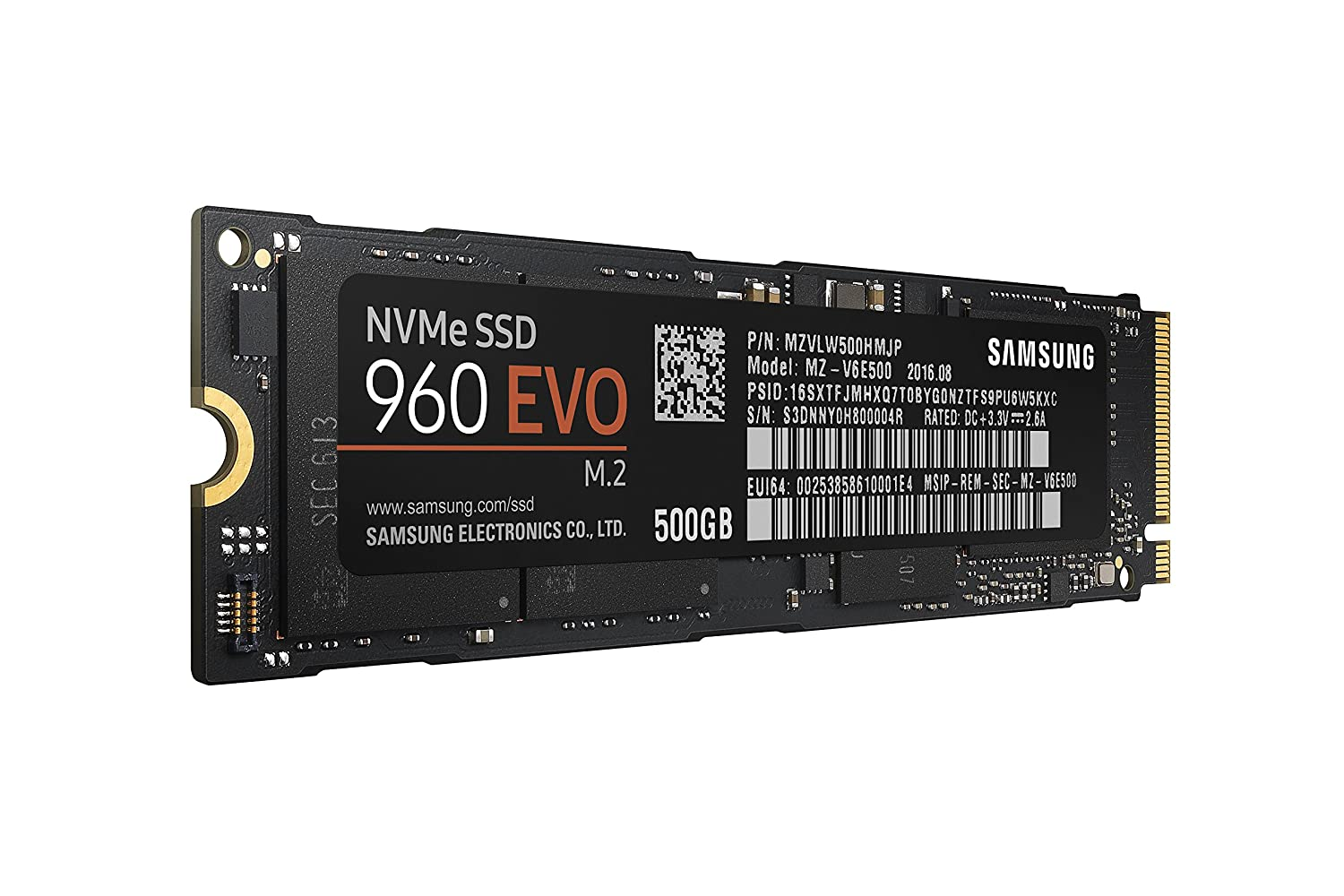 Samsung SSD 960 Evo 500GB Review