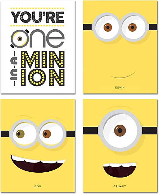 FREE P+P CHOOSE YOUR SIZE Quality Large Minions Movie Poster Kevin Bob Stuart