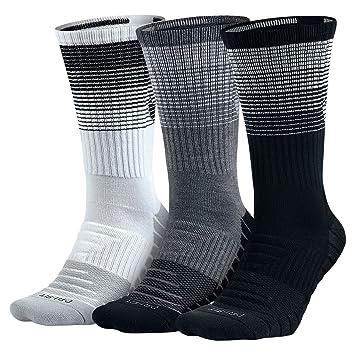 Nike U NK Dry Cush Crew 3PR-HBR Socks, Unisex Adulto, L