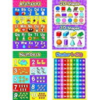 Educational Preschool Posters for Toddlers and Kids with Glue Point Dots for Nursery Homeschool Kindergarten Classroom…