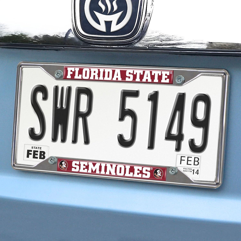 FANMATS  14859  NCAA Florida State University Seminoles Chrome License Plate Frame