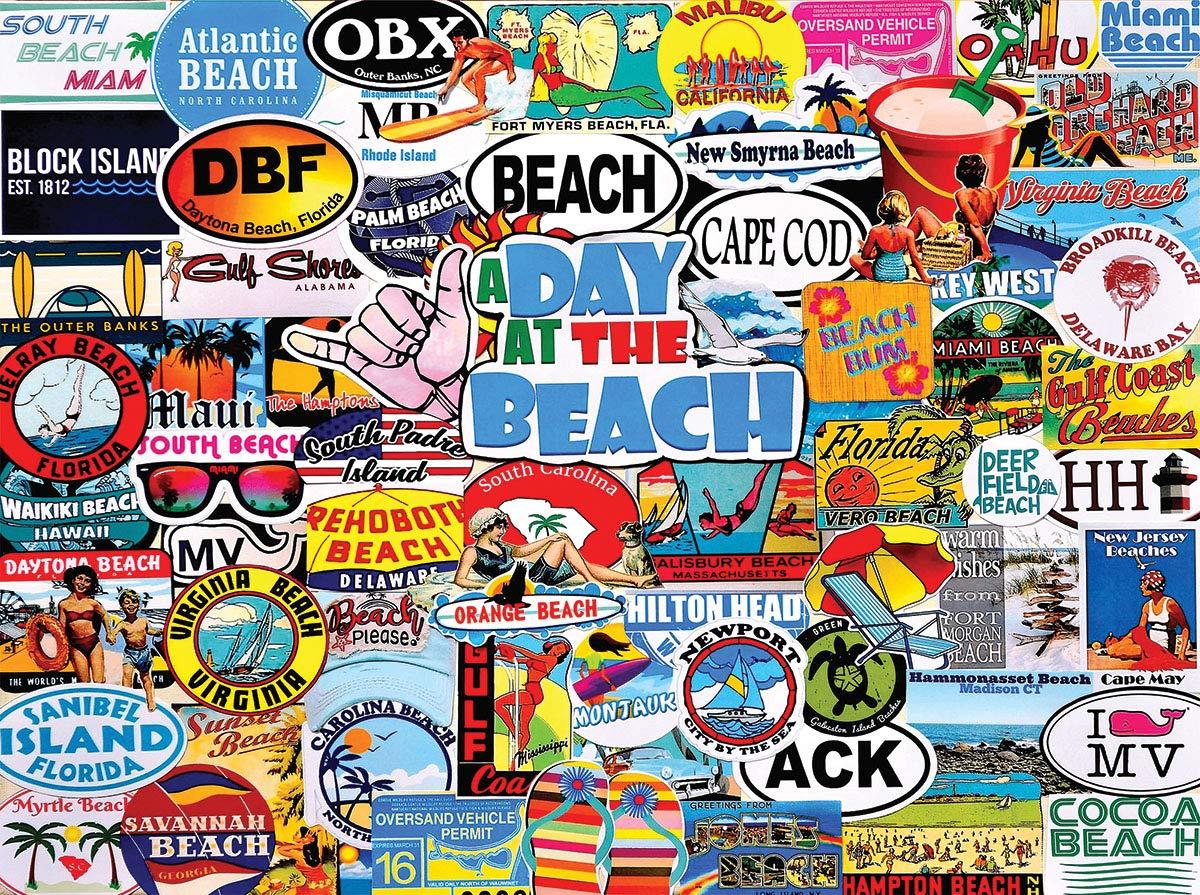 激安特価  White Mountain A The Day at The Beach B07P5VNPWL 1000ピース コラージュ Beach ジグソーパズル B07P5VNPWL, 大流行中!:2c30f0c8 --- a0267596.xsph.ru