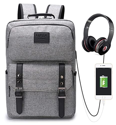 0beaefa0750 Vintage Laptop Backpack for Women Men Stylish Backpack College School  Backpack with USB Charging Port Business