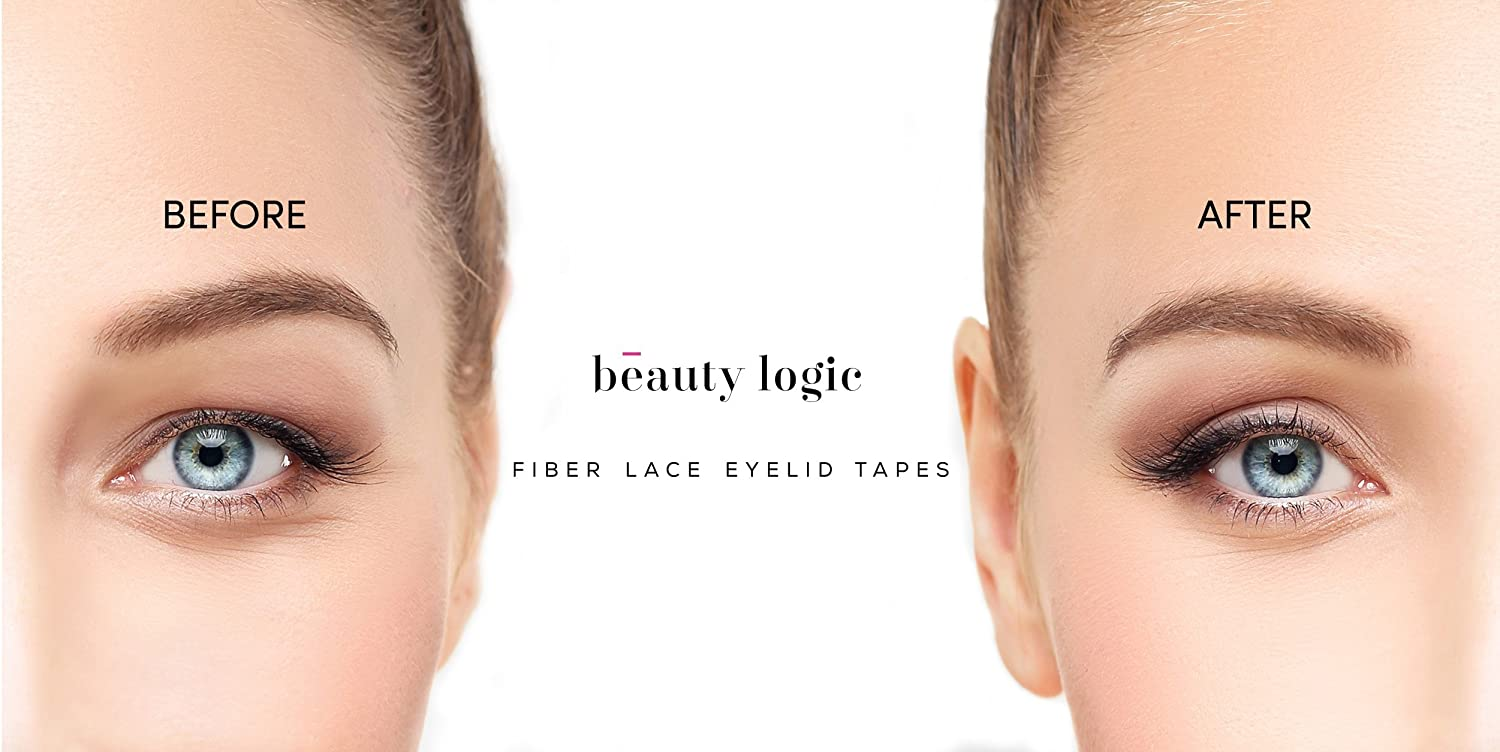 Amazon beauty logic ultra invisible fiber lace eyelid lift amazon beauty logic ultra invisible fiber lace eyelid lift kit 120 pcslarge double eyelid tape perfect for hooded droopy uneven or mono eyelids baditri Gallery