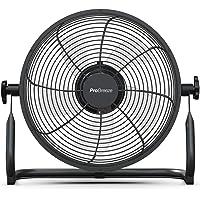 Pro Breeze Ventilador de Piso Recargable de 30cm: Duración de la batería de 4.5-24 Horas, Cabezal…